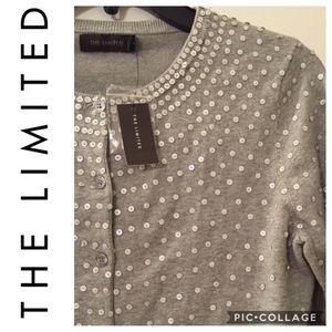 The Limited Sequin Cardigan NWT Medium